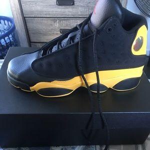 Black yellow Jordan retro 13 MELO SIZE 7